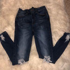 Fashion Nova size 3 high waisted jeans
